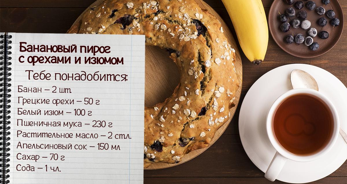 Пироги с банановой начинкой рецепты