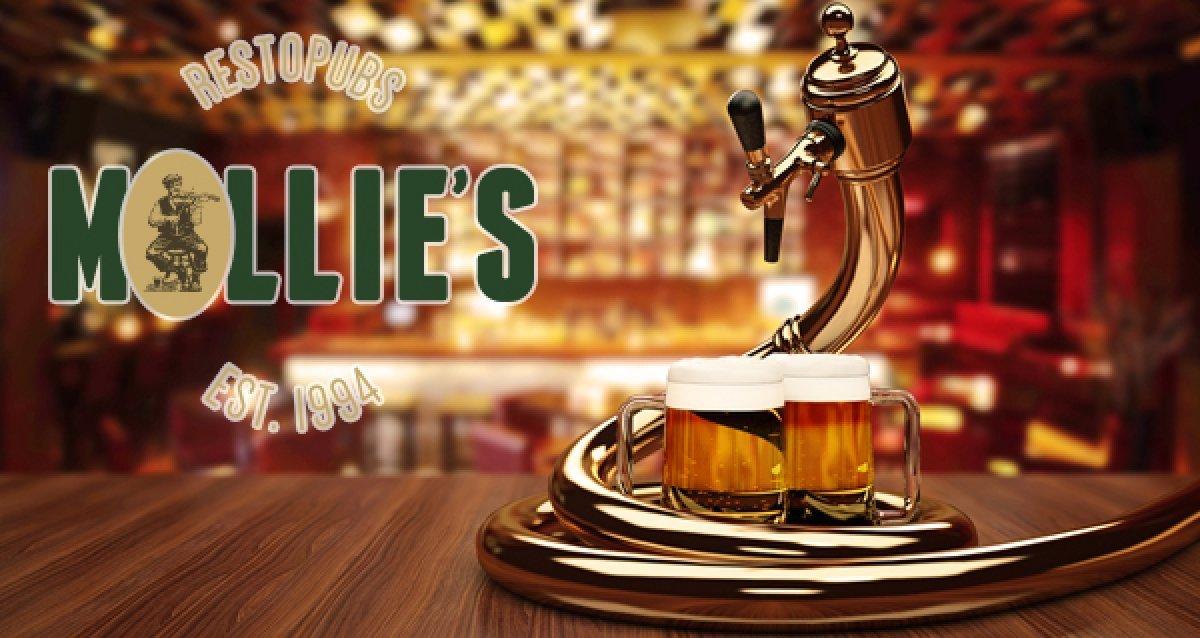 -50% на все меню и -30% на весь крепкий алкоголь и пенные напитки. Mollie's Mews — настоящий ирландский паб!