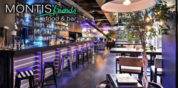 -40% на все меню в MONTIS'Friends Food&Bar. Новый уютный ресторан в центре Москвы!