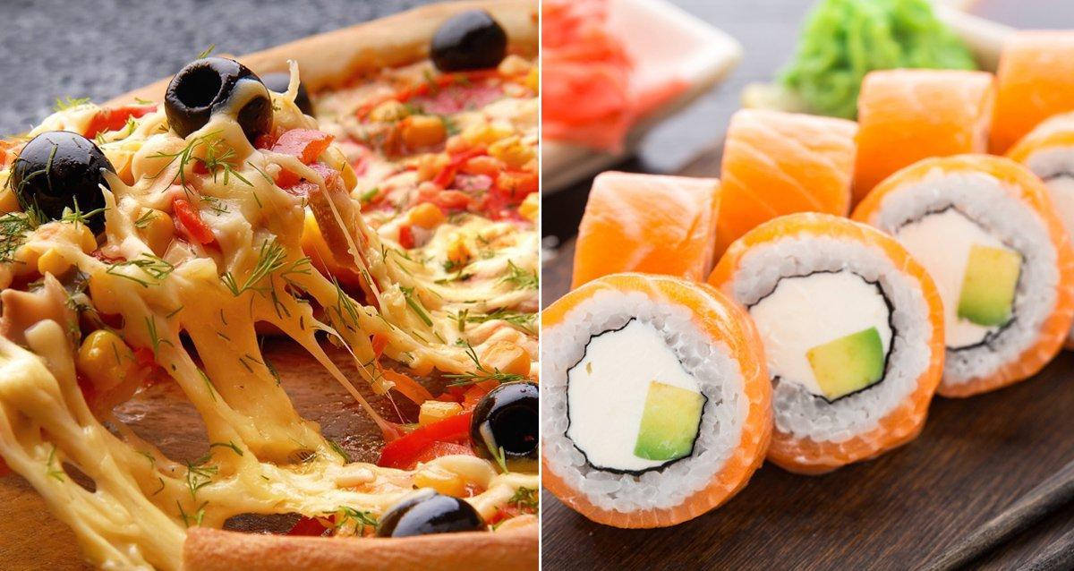 -50% на пиццу, -70% на суши