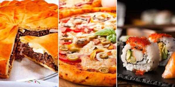 -60% на пироги, пиццу и роллы от службы доставки GrandPie