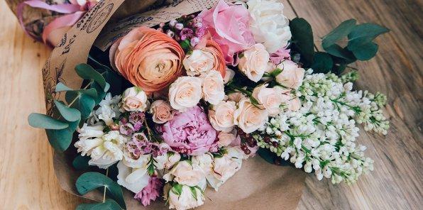 Скидки до 25% на готовые букеты от Lavanda flowers