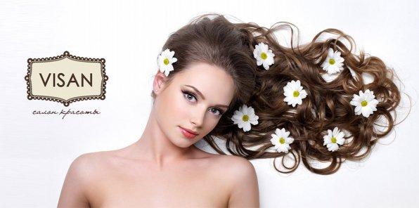 Скидки до 60% на услуги для волос в салоне красоты Visan
