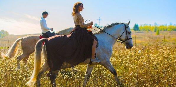 Скидки до 50% на прогулки на пони или лошади для всей семьи