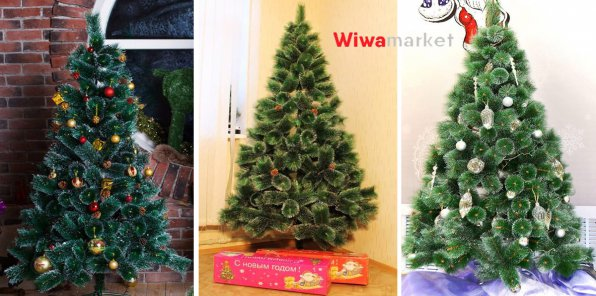 Скидки до 80% на елки с шишками + подарки!