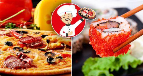 Скидки до 65% на роллы, суши и пиццу в «Мистер-Суши»