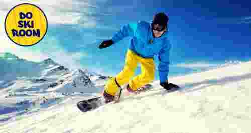 Скидка 50% на аренду сноуборда, горных и беговых лыж, тюбинга от компании Doskiroom