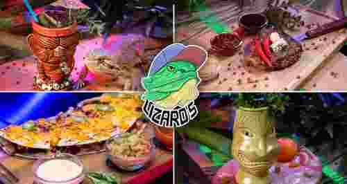 Скидка 50% на все меню и напитки в Lounge bar Lizard's