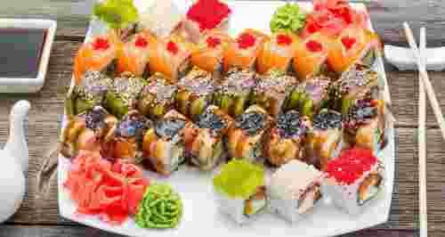 Скидка 50% на все от доставки суши «Сяки Маки»