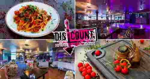 Скидка 50% на меню и напитки в ресторане-клубе Discount