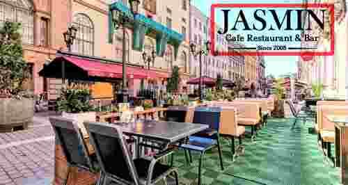 Скидка 50% на все меню и напитки в ресторане Jasmin