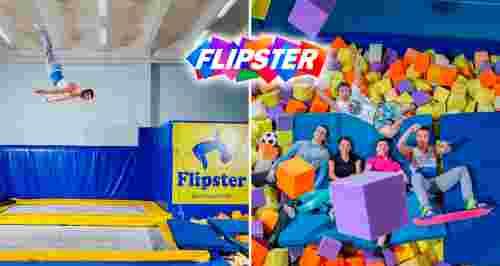 Скидка 50% от батутного клуба Flipster