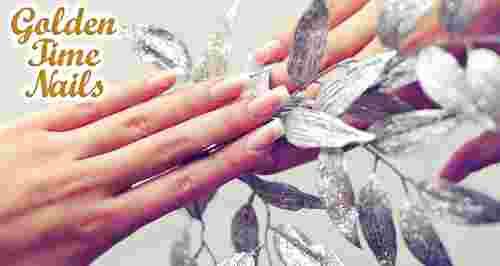 Скидки до 75% на услуги ногтевой студии Golden Time Nails