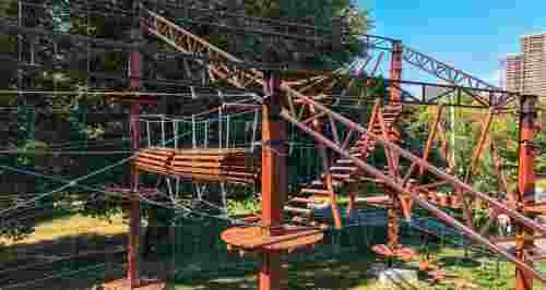 Скидка 50% на посещение веревочного парка «Мадагаскар»