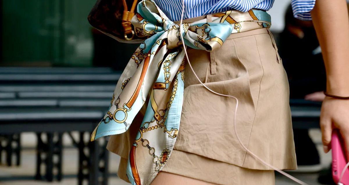 Как использовать платок вместо ремня