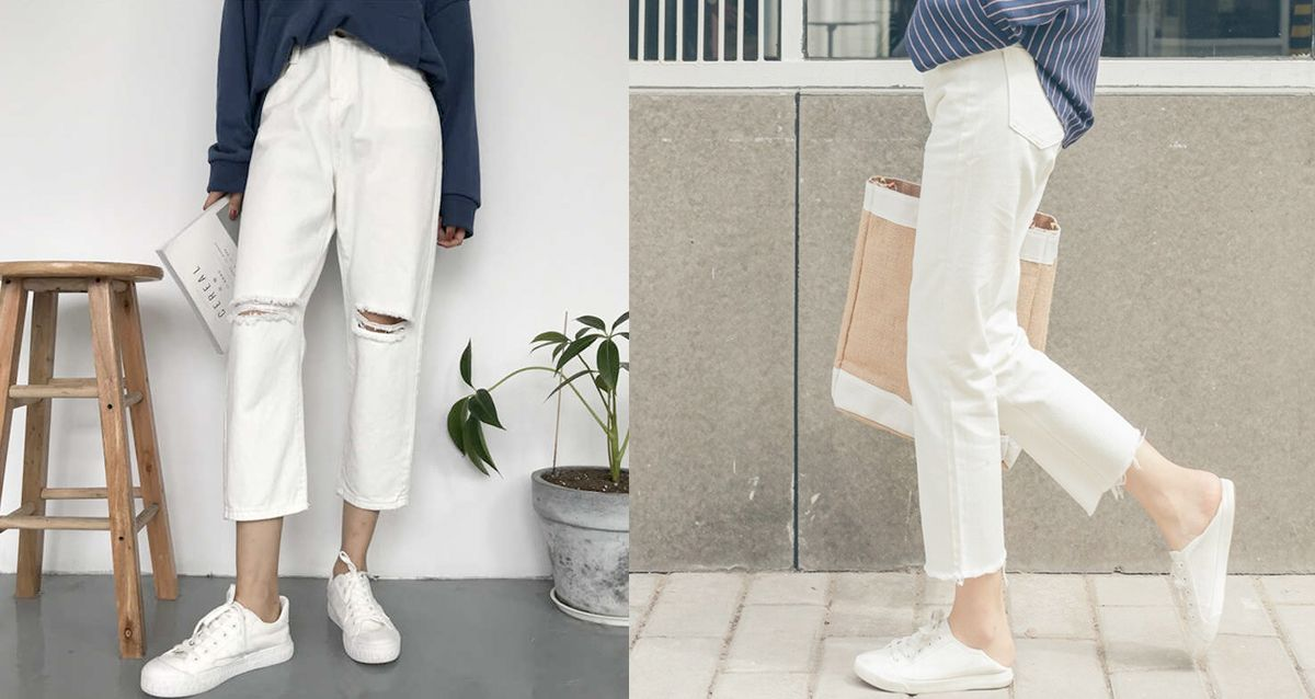 Как носить тренд этого лета — белые джинсы