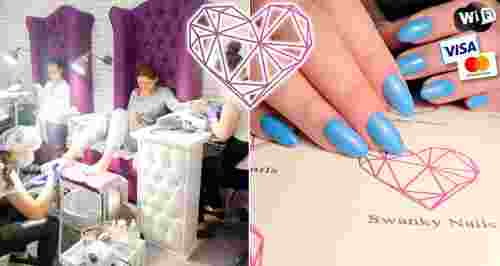 Скидки до 60% на ногтевой сервис студии Swanky Nails