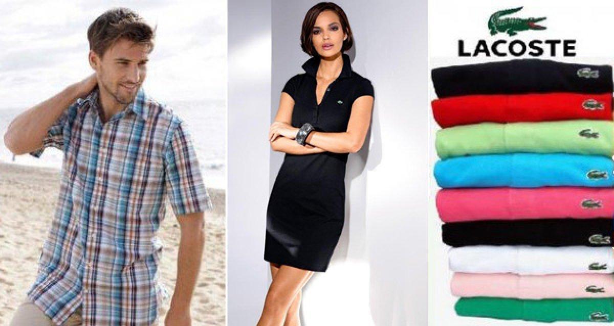 Стильные рубашки по привлекательной цене! А теперь и платья Lacoste!