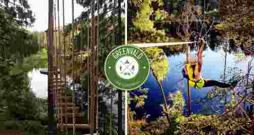 Скидки до 50% в веревочном парке над озером