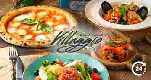 Скидки до 50% в семейном ресторане Villaggio с детской комнатой