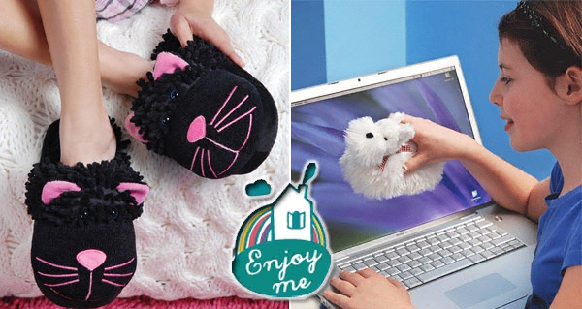 Забавные и комфортные тапочки Fuzzy Friends!