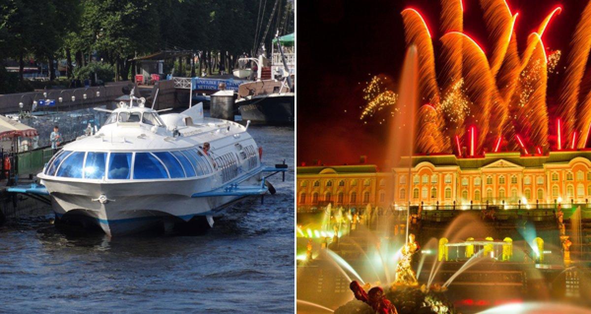 Морская прогулка на Метеоре в Петергоф с экскурсионной программой и посещением дворцов и музеев со скидкой до 78%