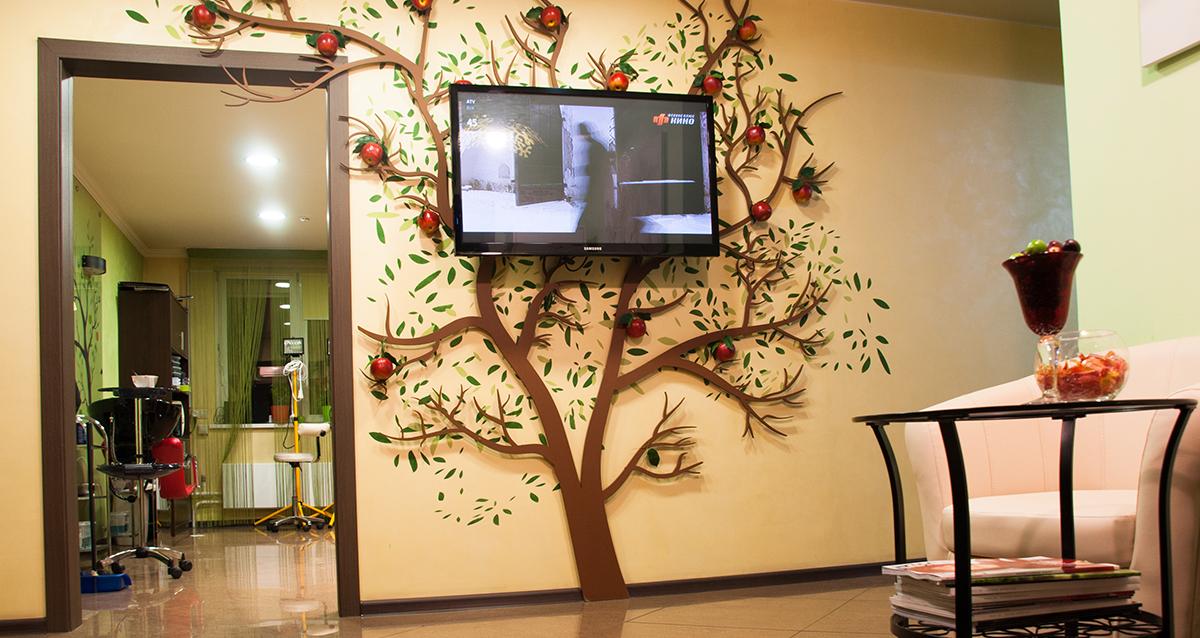интерьер студии «Свежее яблоко»