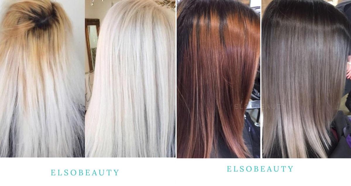окрашивание волос в салоне Elsobeauty